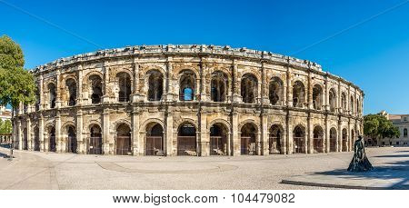 Ancient Roman Theatre (arena) In Nimes