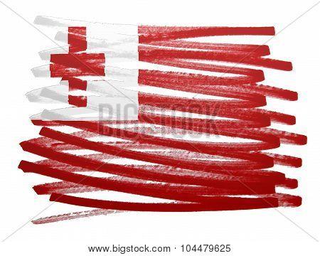 Flag Illustration - Tonga
