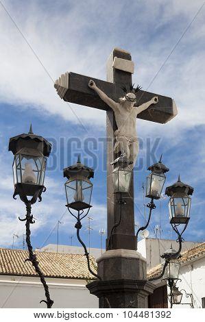 Cristo De Los Faroles Square, Cordoba. Andalucia, Spain