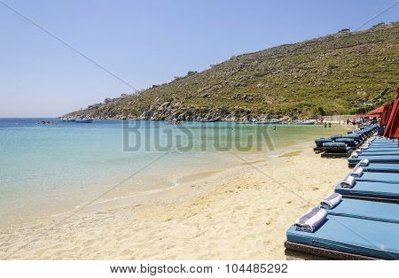 Psarou Beach, Mykonos, Greece