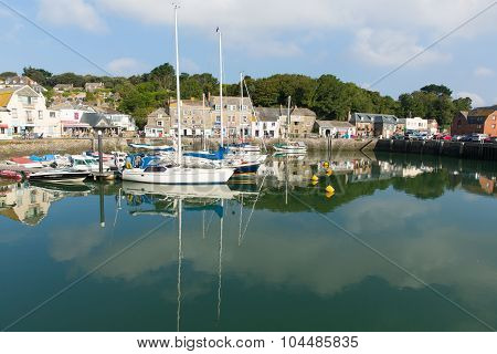 English harbour Padstow North Cornwall England UK beautiful late summer sun