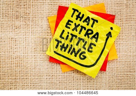 That little extra thing - handwriting on a sticky note