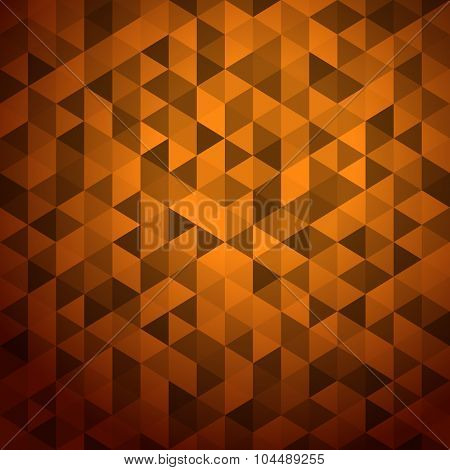 Abstract background of color triangles. Place your content