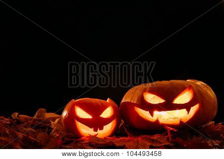 Scary smiling Halloween pumpkin