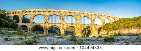 Panoramic View Of Pont Du Gard