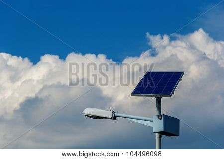 Street Light With Solar Panel