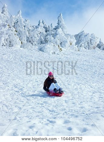 The Girl On A Sledge