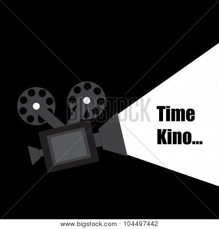 Time Kino Vector Design Illustration