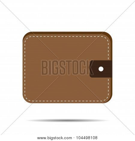 Purse With Shadow Vector Illustration