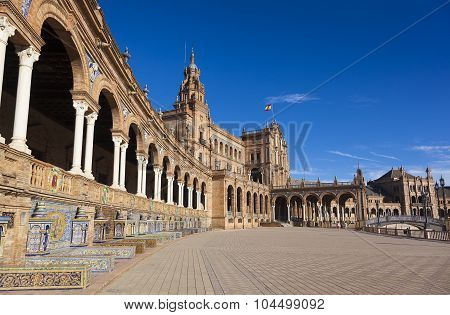 Spain Square Built For The Ibero-american Exposition Of 1929, Sevilla, Andalusia, Spain