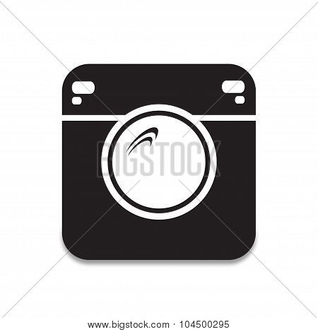 Foto Icon Wich Shadow Vector Illustration