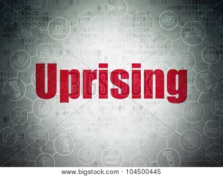 Politics concept: Uprising on Digital Paper background