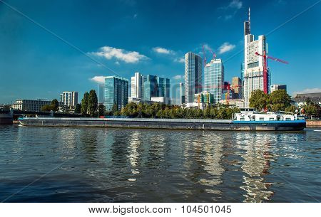 Skyline Of Frankfurt Am Main. Germany