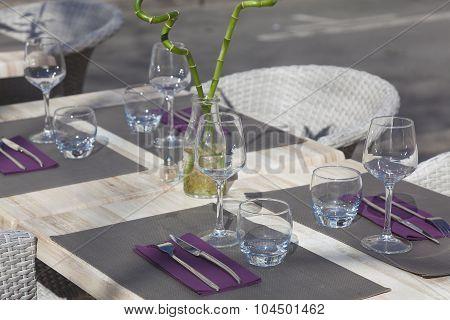 Table In Restaurant,  Tours, Indre-et-loire, France