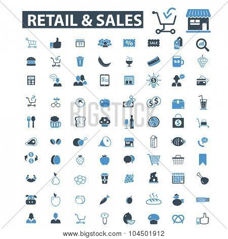 retail, sales icons