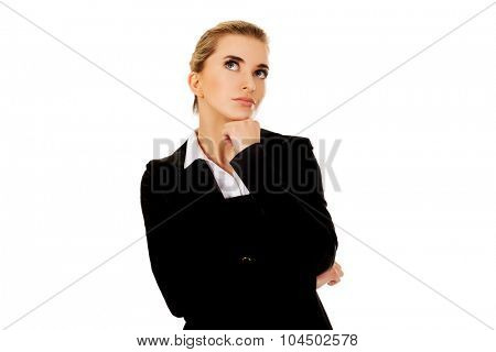 Businesswoman thinking about some idea.