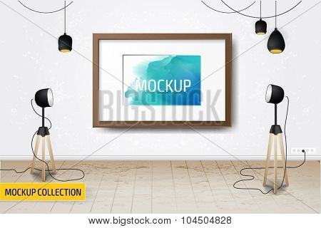 Modern Business presentation room mockup template.