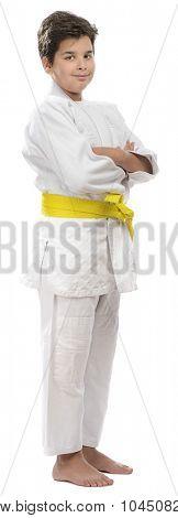 Yellow Belt Judo Kid