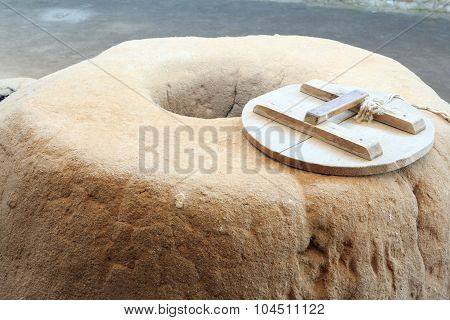 Clay Pit With Wood Lid Of The Bronze Age