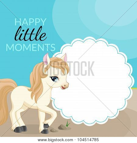 Frame with pony and place for text