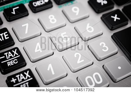 Closeup Of The Keypad Of A Calculator.