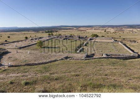Ruins Of Clunia, Peñalba De Castro, Burgos, Castilla Y Leon, Spain