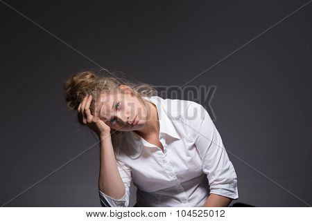 Woman Having A Crisis