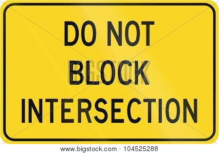 Do Not Block Intersection In Canada