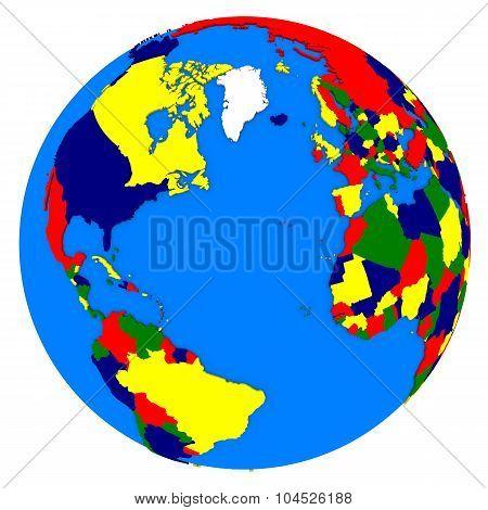 Northern Hemisphere On Planet Earth