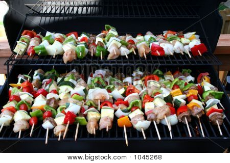 Kabobs On Girll