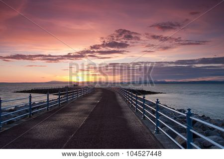 Sunset On The Pier In Morecambe