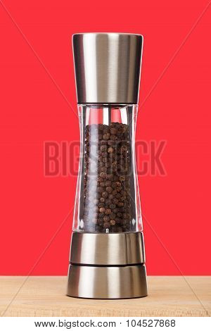 See through pepper mill