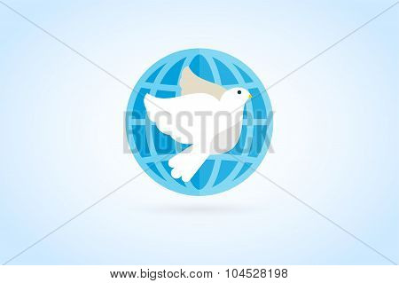 Dove vector logo icon