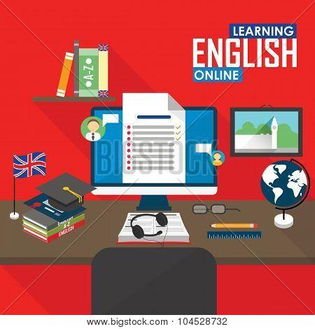 E-learning English language.