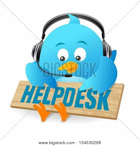 Blue Bird Helpdesk Sign