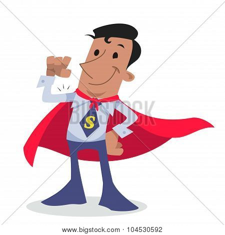 Super hero corporate character