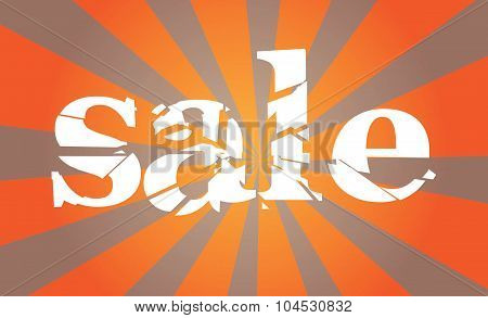 Sale Sign On Sunbeams Background