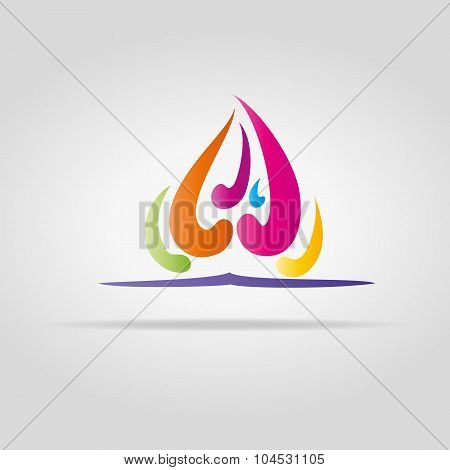 Abstract Color Flame