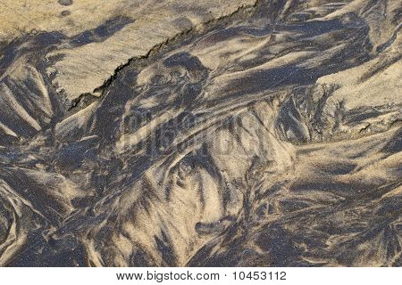 Sand Patterns In A Rivulet