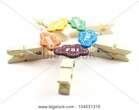Created Handmade Wooden Clips As Business Day