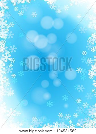 Light blue winter pattern with snowflakes
