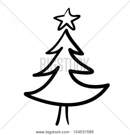 Hand drawn Christmas tree