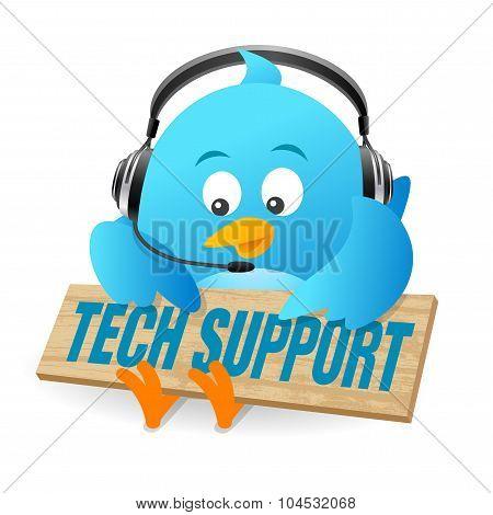 Blue Bird Techical Support Sign