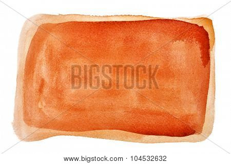 Orange watercolour background - space for your own text