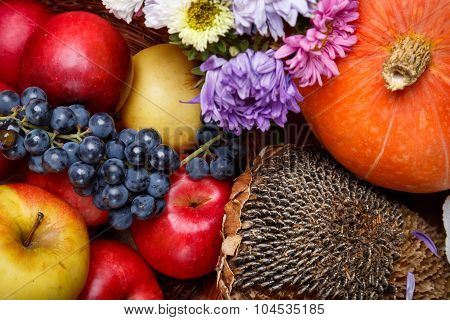 Autumnal Fruits And Vegetables