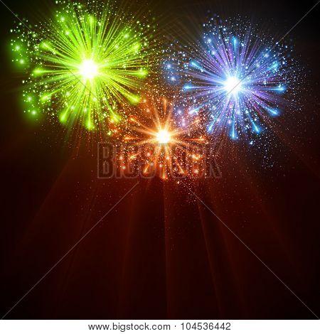 Happy New Year 2016 celebration background