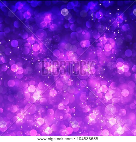 Glittering Christmas and New Year bokeh background
