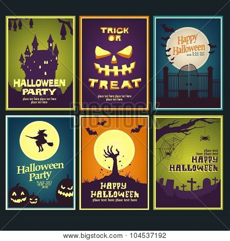 six halloween card collection