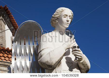 Angel In The Sanctuary Of Sameiro, Braga, Nord, Portugal