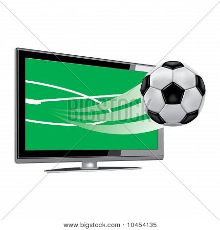 Soccer on the tv